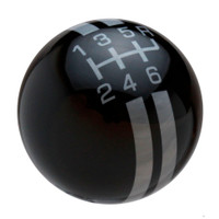 Black / Pearl Gray Rally Stripe Shift Knob