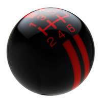 Black / Red Rally Stripe Shift Knob