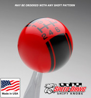 Red / Black Racing Stripe Shift Knob