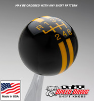 Black / Yellow Rally Stripe Shift Knob