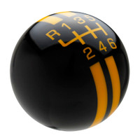 Black / Yellow Rally Stripe Shift Knob