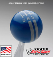 Dark Blue / Pearl Gray Rally Stripe Shift Knob