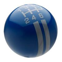 Dark Blue / Pearl Gray Rally Stripe Shift Knob