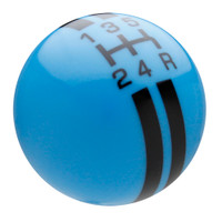 Grabber Blue / Black Rally Stripe Shift Knob