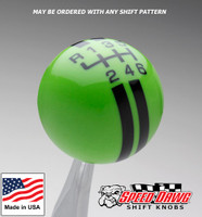 Gotta Have It Green / Black Rally Stripe Shift Knob