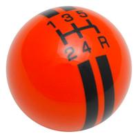 Orange / Black Rally Stripe Shift Knob