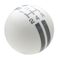White / Pearl Gray Rally Stripe Shift Knob