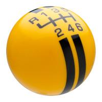 Yellow / Black Rally Stripe Shift Knob