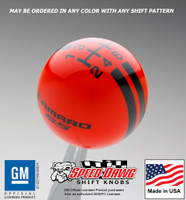 Camaro SS Rally Stripe Shift Knob 5th 6th Gen