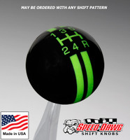 Black / Gotta Have It Green Rally Stripe Shift Knob