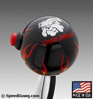 Black Flame Shift Knob with Line Lock / Nitrous Switch & Speed Dawg logo