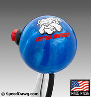 Blue Pearl Shift Knob with Line Lock / Nitrous Button & Speed Dawg logo