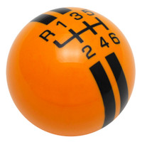 Grabber Orange / Black Rally Stripe Shift Knob