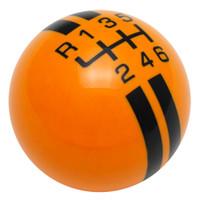 Grabber Orange / Black Rally Stripe Shift Knob
