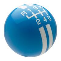 Grabber Blue / White Rally Stripe Shift Knob