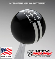 Black / White Rally Stripe Shift Knob