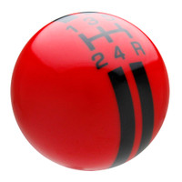 Red / Black Rally Stripe Shift Knob