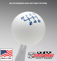 White / Dark Blue Competition Shift Pattern Shift Knob