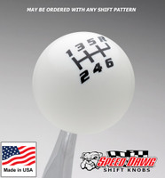 White / Black Competition Shift Pattern Shift Knob