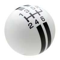 White / Black Rally Stripe Shift Knob