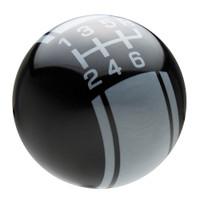 Black / Pearl Gray Racing Stripe Shift Knob