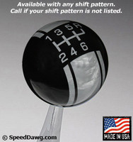 Black / Pearl Gray Racing Stripe Shift Knob