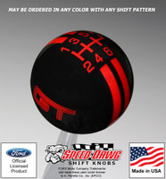 Mustang GT Rally Stripe Shift Knob