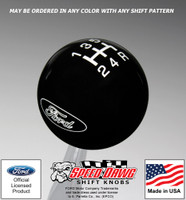 Ford Oval Logo Shift Knob with Inlaid Shift Pattern