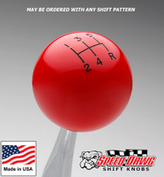 Red Shift Knob with Engraved Shift Pattern