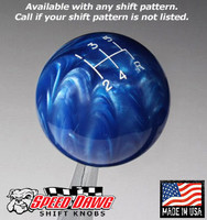 Blue Pearl Shift Knob with Engraved Shift Pattern