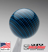 Grabber Blue Carbon Fiber Finish Shift Knob