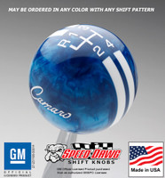 '68 - '69 Camaro Logo Rally Stripe Shift Knob
