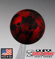 Candy Red Multi Skull Shift Knob