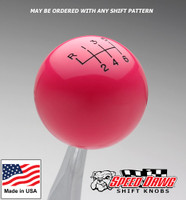 Pink Shift Knob with Engraved Shift Pattern