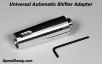 Universal Automatic Shifter Adapter with 16mm x 1.50 Threads - Polished Aluminum