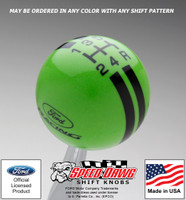 Ford Racing Logo 5 Speed Rally Stripe Shift Knob