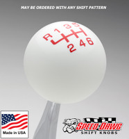 White / Red Pro Series Shift Knob