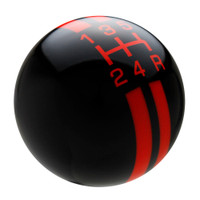 Black / Orange Rally Stripe Shift Knob