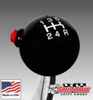 Pro Black / White 5 Speed Shift Knob with Line Lock / NOS Button