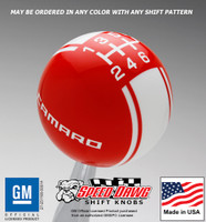 Camaro Racing Stripe Shift Knob 5th 6th Gen