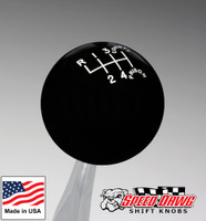 County Prison Black 6 Speed Shift Knob Reverse Upper Left
