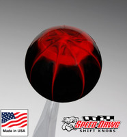 Black Red Splash Shift Knob