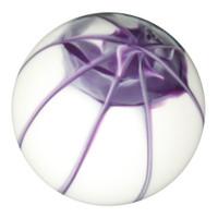 White Purple Splash Shift Knob