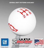 Chevy Bow Tie Logo Shift Knob with Inlaid Shift Pattern