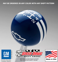 Chevy Bow Tie Rally Stripe Shift Knob