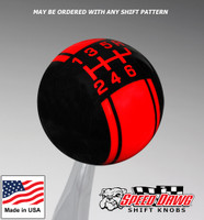 Black / Red Racing Stripe Shift Knob