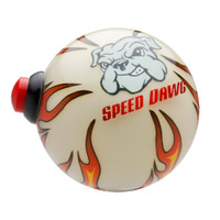 Ivory Flame Shift Knob with Line Lock / Nitrous Switch & Speed Dawg logo