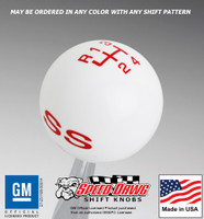 SS Logo Shift Knob with Inlaid Shift Pattern