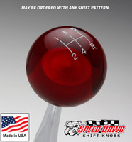 Transparent Red Shift Knob with Engraved Shift Pattern