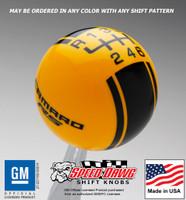 Camaro RS Racing Stripe Shift Knob 5th Gen